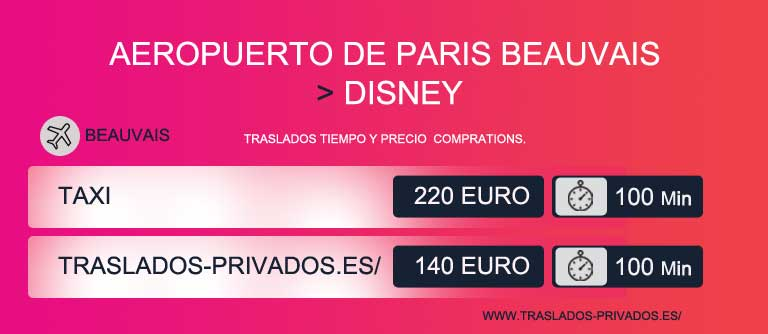 precio taxi paris aeropuerto beauvais